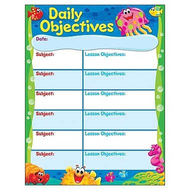 Trend Enterprises Daily Objectives Sea Buddies Learning Chart, 17