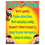Trend Enterprises Monkey Mischief T-38440 Class Rules Learning Chart
