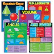 Trend Enterprises Geometry Learning Chart, 5/Pack (T-38912)