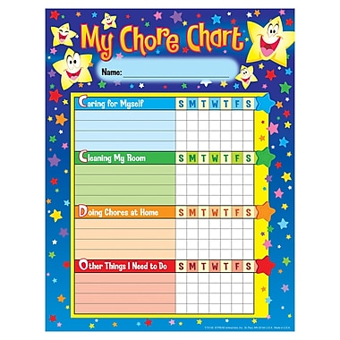 Trend Enterprises Stars Chore/Progress Chart, 125/Pack (T-73106)