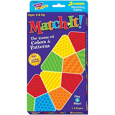 Trend Enterprises 3-Corner Matching Logic Game, Match-It! (T-76008)