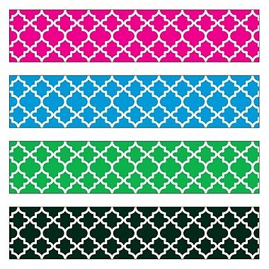 TREND T-85904 143' Straight Moroccan Bolder Borders, Multicolor