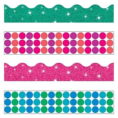 Trend Enterprises® Toddler - 12th Grade Terrific Trimmer & Bolder Border Variety Pack, Dots n Glitz