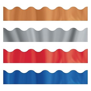 Trend Enterprises Toddler - 12th Grade Trimmer & Bolder Border Variety Pack, Metallic Shimmer, 143/Pack (T-92925)