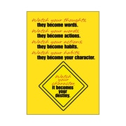 Trend Enterprises® ARGUS® Poster, Watch Your Thoughts, They