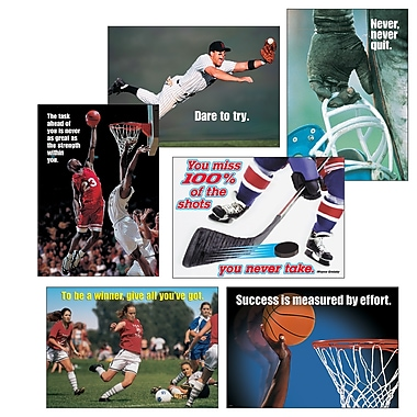 Trend Enterprises® ARGUS® Poster Combo Pack, Sports Motivating Poster Pack