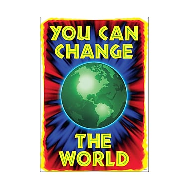 Trend Enterprises® ARGUS® Poster, You Can Change The World