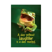 Trend Enterprises® ARGUS® Poster, A Day Without Laughter Is A Day Wasted