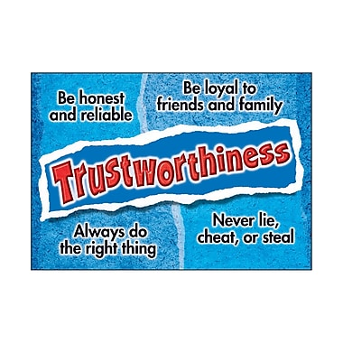 Trend Enterprises® ARGUS® Poster, Trustworthiness