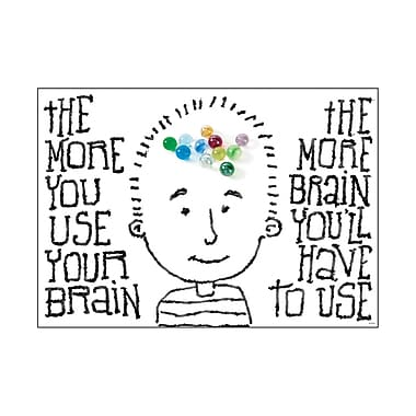 Trend Enterprises® ARGUS® Poster, The More You Use Your Brain