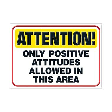 Trend Enterprises® ARGUS® Poster, Attention Only Positive Attitudes