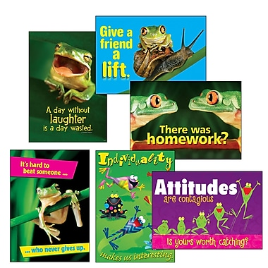 Trend Enterprises ARGUS® Poster Combo /Pack, Awesome Attitude,12/Set