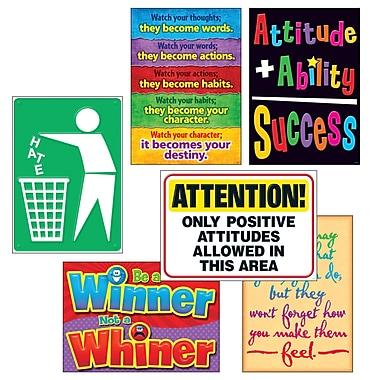 Trend Enterprises – Ensemble d'affiches « Attitude Matters » Argus (T-A67924)