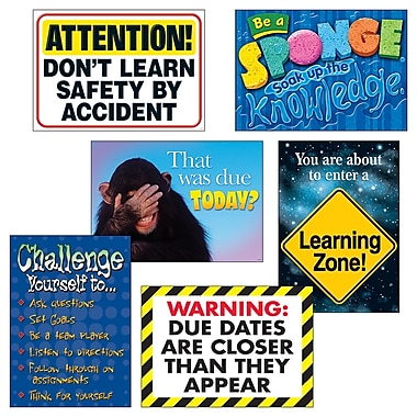 Trend Enterprises Learning Zone Argus Poster Combo Pack, 6/Pack (T-A67933)