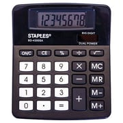 Staples BD-4300SA 8-Digit Angled Display Calculator
