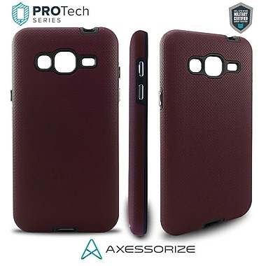 Axessorize PROTech Cell Phone Fitted Case for Samsung Galaxy J3, Burgundy Red (SAMR1023)