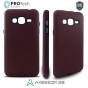 Axessorize – Étui ajusté PROTech pour cellulaire, Samsung Galaxy J3, étanche, rouge bourgogne (SAMR1023)