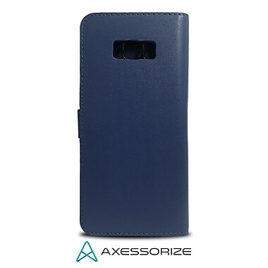Axessorize Folio Cell Phone Wallet Case for Samsung Galaxy S8 Plus, Blue (FOLGS8PB)