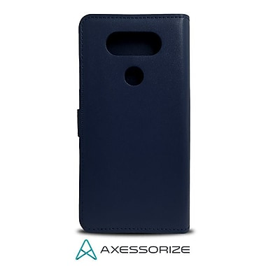 Axessorize Folio Cell Phone Wallet Case for LG V20, Blue (FOLV20B)
