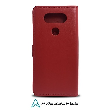 Axessorize Folio Cell Phone Wallet Case for LG V20, Red (FOLV20RG)