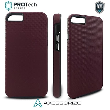 Axessorize PROTech Cell Phone Fitted Case for Apple iPhone 8/7, Burgundy Red (IP7R1003)