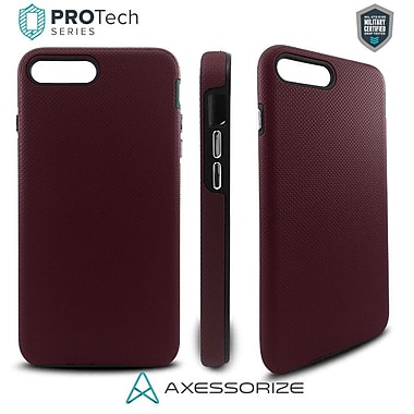 Axessorize PROTech Cell Phone Fitted Case for Apple iPhone 7 Plus, Burgundy Red (IP7PR1003)