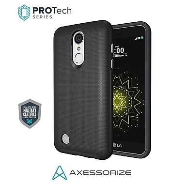 Axessorize PROTech Cell Phone Fitted Case for LG K4, Black, 2017 (LGV1000)