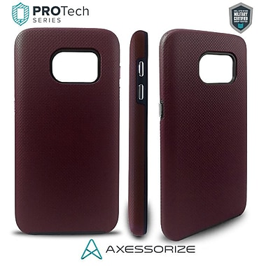 Axessorize PROTech Cell Phone Fitted Case for Samsung Galaxy S7, Burgundy Red (SAMR1073)