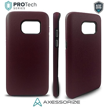 Axessorize PROTech Cell Phone Fitted Case for Samsung Galaxy S7 Edge, Burgundy Red (SAMR1133)