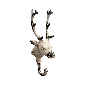 Reindeer Wall Hook, White, 2/Pack