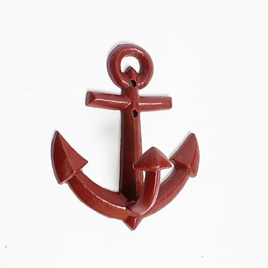 Anchor Wall Hook, Red, 4/Pack