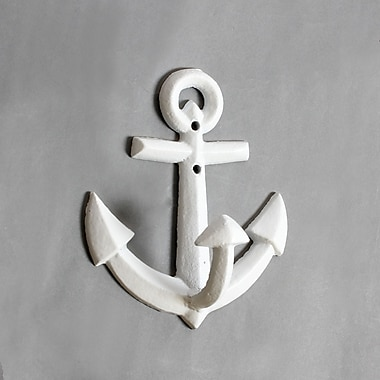 Anchor Wall Hook, White, 4/Pack