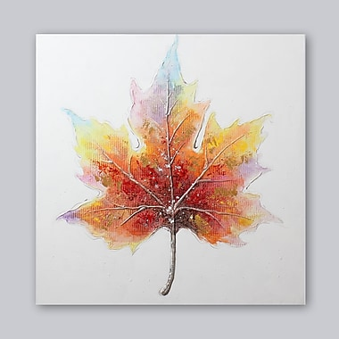 Maple Leaf Oil Hand Painting , 40