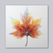 "Maple Leaf Oil Hand Painting , 40""x40"""