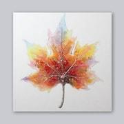 Peinture à l'huile, feuille d'érable, 40 po x 40 po