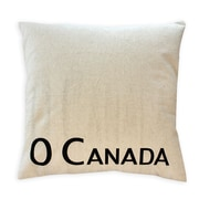 2-Piece Cushion Feather Insert, O Canada, Black, 7.5x22x22