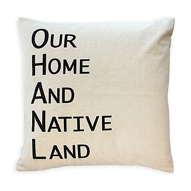 Oreiller de plumes, Our Home And Native Land, noir, 7,5 x 22 x 22, paq./2