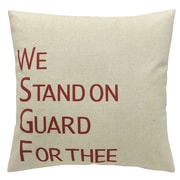 2-Piece Cushion Feather Insert, We Stand On Guard For Thee, Red, 6.75x18x18