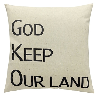 Cushion Feather Insert, God Keep Our Land, Black, 8x26x26