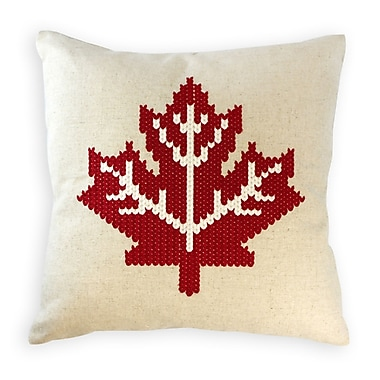 2-Piece Cushion Feather Insert, Maple Leaf, Red, 6.75x18x18