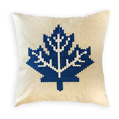 2-Piece Cushion Feather Insert, Maple Leaf, Light Blue, 6.75x18x18