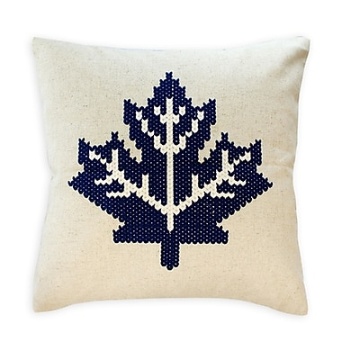 2-Piece Cushion Feather Insert, Maple Leaf, Blue, 6.75x18x18