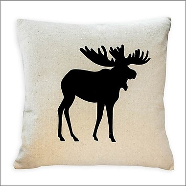 2-Piece Cushion Feather Insert, Moose, Black, 6.75x18x18