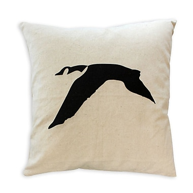 2-Piece Cushion Feather Insert, Goose, Black, 6.75x18x18