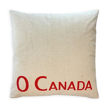 2-Piece Cushion Feather Insert, O Canada, Red, 6.75x18x18