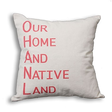 Oreiller de plumes, Our Home And Native Land, rouge, 6,75 x 18 x 18 (po), paq./2