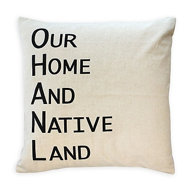 2-Piece Cushion Feather Insert, Our Home And Native Land, Black, 6.75x18x18