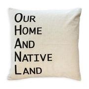 Oreiller de plumes, Our Home And Native Land, noir, 6,75 x 18 x 18 (po), paq./2