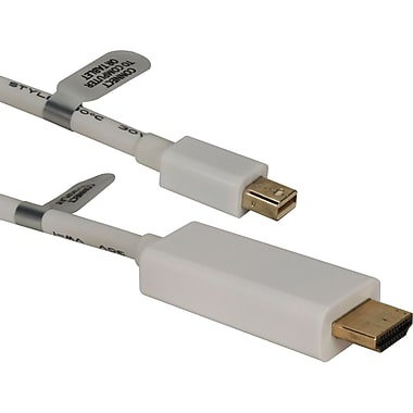 QVS 15ft Mini DisplayPort/Thunderbolt to HDMI Digital Video Cable