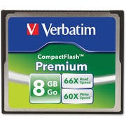 Verbatim 8GB 66X Premium Compact Flash Memory Card